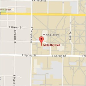Map of McGuffey Hall Miami University